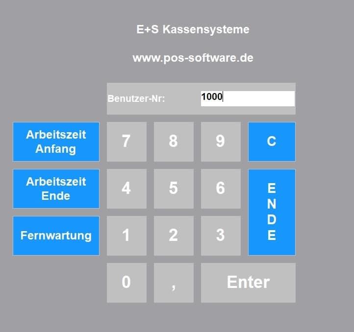 Kassensoftware Anmeldung