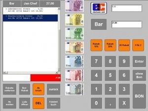 Zahlung kasse handel, kasse gastronomie, ticketkasse, kassensysteme, kassensoftware, kassensystem, kassen