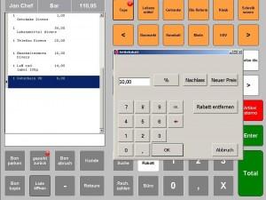 Rabatt E+S Kassensysteme, Kassensoftware