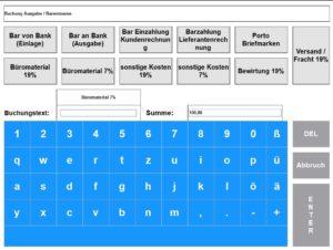 Kassenbuch mit Einlagen / Ausgaben