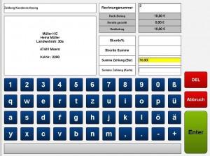 Zahlung Rechnung 11 kasse handel, kasse gastronomie, ticketkasse,  kassensysteme, kassensoftware, kassensystem, kassen