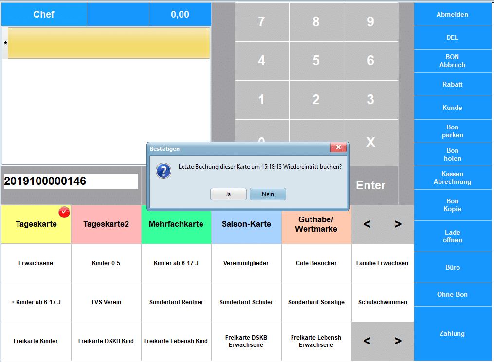 Kassieren-Saisonkarte-Kontrolle
