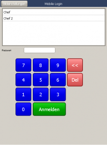 Mobile E+S Kassensysteme, Kassensoftware