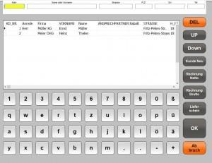Kunden In Kassensoftware Kasse, E+S Kassensysteme, Kassensoftware