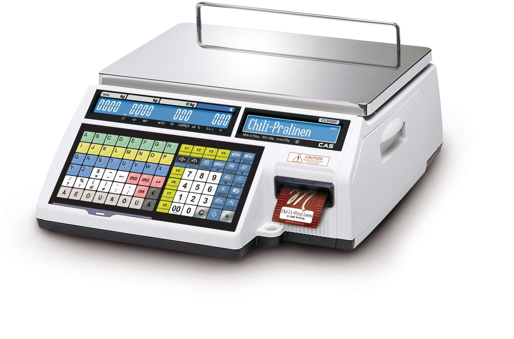 Waage CL5500-B-Schmucketikett