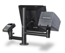 Kassenhalterung für Touchmonitor, EC Terminal und Bondrucker