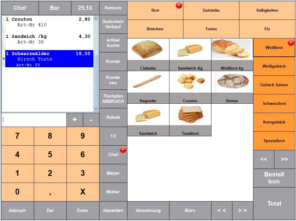 Kassensoftware Bäcker