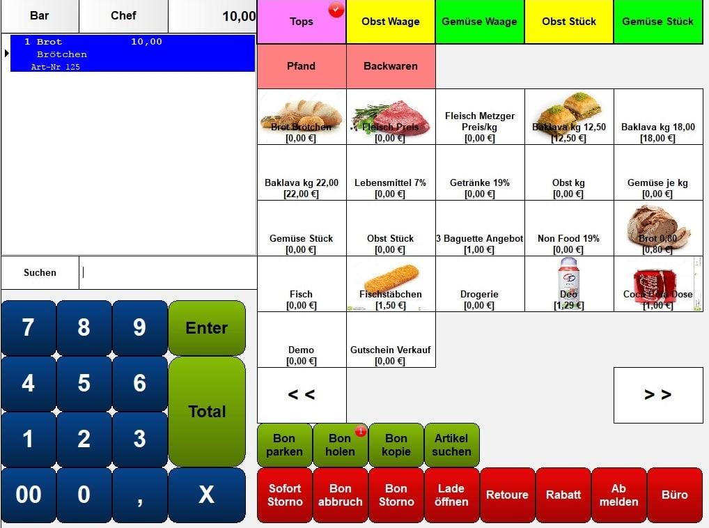 Kassensoftware Lebensmittel